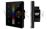 Панель Sens SR-2830RGB-RF-IN Black (220V,RGB,4зоны